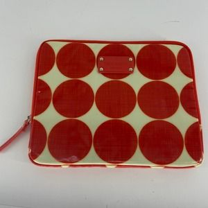 Kate Spade White Red Zipped Tablet Case